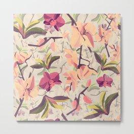 Orchid Pattern Metal Print