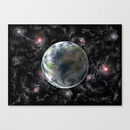 Planet Earth-Space Canvas Print