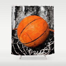The basketball Shower Curtain