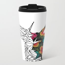 STAG FLORAL Metal Travel Mug