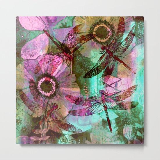 Dragonflies in a Dream Metal Print