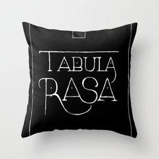 Tabula Rasa (black) Throw Pillow