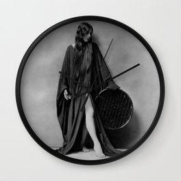 Dancer Olive Anne Alcorn black and white photograph / black and white art photography Wall Clock
