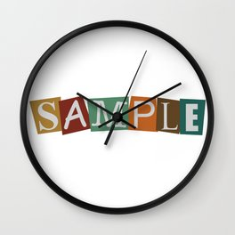 Sample In Color Wall Clock