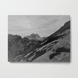Black and white mountain Metal Print