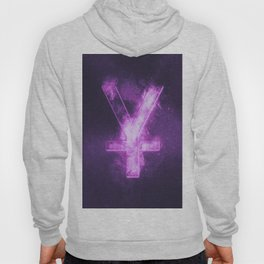 Japanese yen. Japan Yen. Monetary currency symbol. Abstract night sky background. Hoody