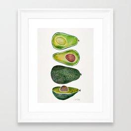 Avocado Slices Framed Art Print
