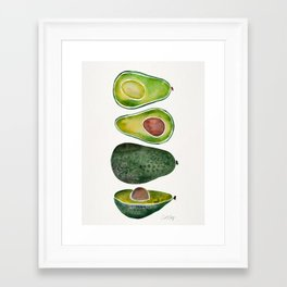 Avocado Slices Framed Art Print