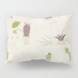 My Potted Cactus Pattern Pillow Sham