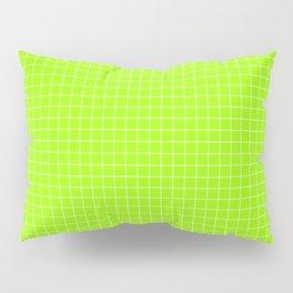 Green Grid White Line Pillow Sham