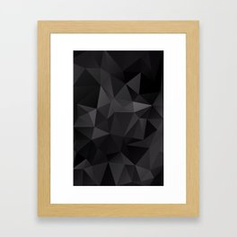 Abstract of triangles polygo in black colors Framed Art Print