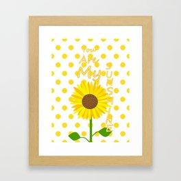 Inspired Sunshine Quote Framed Art Print