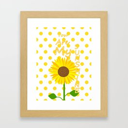 Inspired Sunshine Quote Framed Art Print