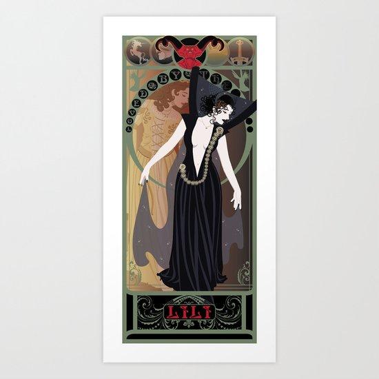 Dark Lili Nouveau - Legend Art Print
