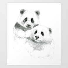 Giant Panda sketch SK064 Art Print
