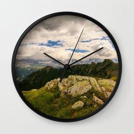 Giro dei cinque laghi Wall Clock