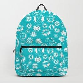 Superhero Infinity War Logo in Teal Backpack