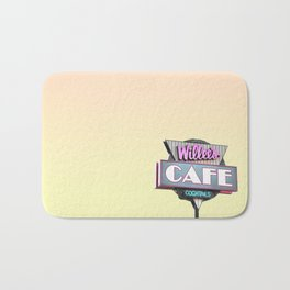 Willees Cafe and Cocktails Neon Sign Bath Mat