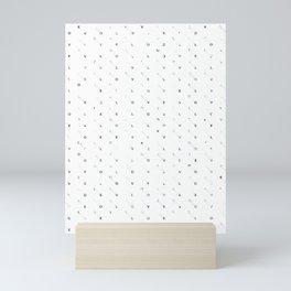 Secret Type Pattern Love Mini Art Print