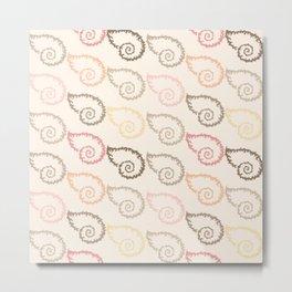 Pastel Marine Pattern 15 Metal Print