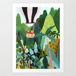 Hot Air Balloon Explorer Art Print