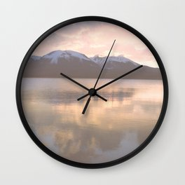 Copper Sunset - Lake Dillon, Colorado Wall Clock