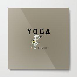 Yoga for Guys Metal Print