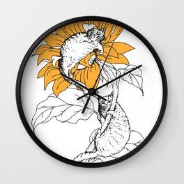 Catflower Wall Clock