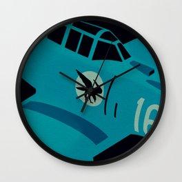 Swedish EP-106 airplane poster ShreddyStudio Dennis Weber Wall Clock