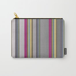 Multi Color Stripes Carry-All Pouch