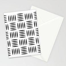 Black & white dash pattern #2 Stationery Cards