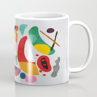 kitchen Mugs featuring Still life from god's kitchen by Picomodi