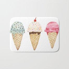 Sweet Ice Cream Cones Bath Mat