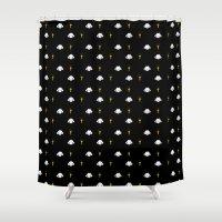 poop Shower Curtains featuring Ghost poop by Juli_Karu