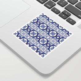 Portuguese Tiles Azulejos Blue and White Pattern Sticker