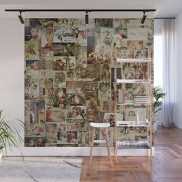 Merry Christmas - Santa angels & friends - collage Wall Mural