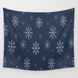Artistic snowflakes pattern Wall Tapestry