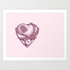 My Locked Heart Art Print