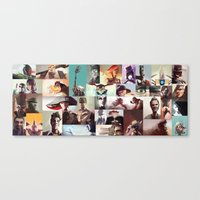 borderlands Canvas Prints featuring Borderlands Characters by BEN Olive