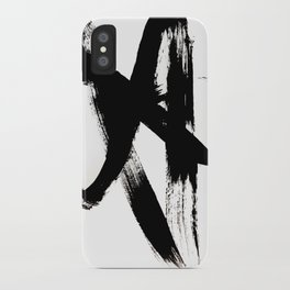 Brushstroke 2 - simple black and white iPhone Case