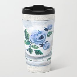 Little Rose Tea Cup Metal Travel Mug