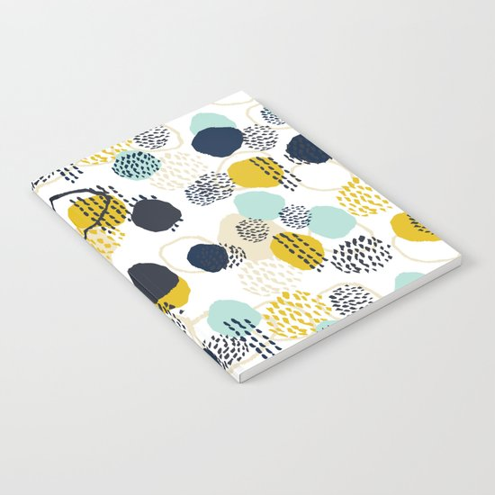 Jamm - abstract art painting brushstrokes modern minimal paint trendy colors hipster gender neutral  Notebook