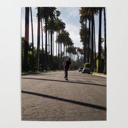 Beverly Hills Skateboarding Poster