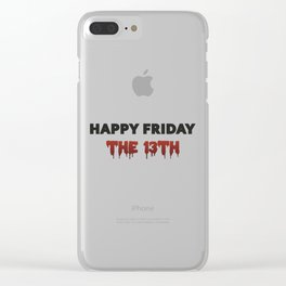 The Bloody Friday Clear iPhone Case