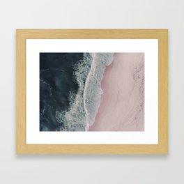 Sands of Cameo Pink Framed Art Print