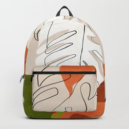 abstract tropical plants shape art Backpack