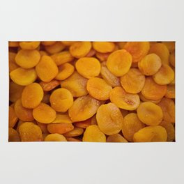 Dried cut apricot fruits Rug