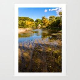 Lake patterns,Larz Aderson park Art Print