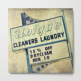 Unique Laundry Sign Metal Print