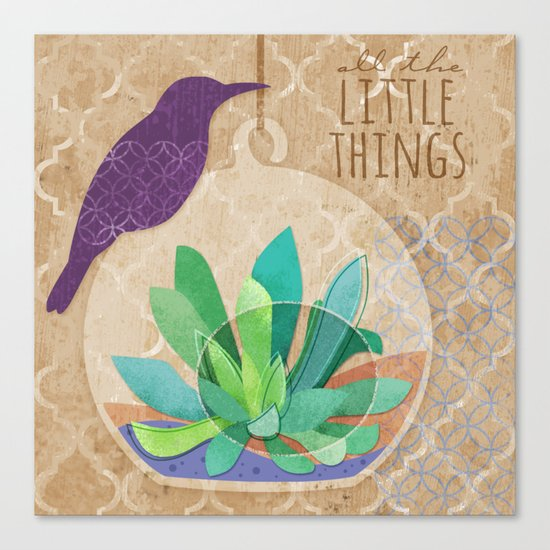 All The Little Things Succulent Canvas Print